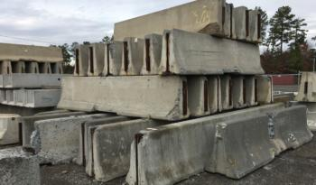 12 Foot Concrete Traffic Barrier Sections [41 Available] full