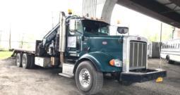 2010 Peterbilt 367 W/Fassi Crane and Hi Rail Gear Truck Crane